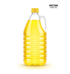 vegetable oil bottle isolated vector image