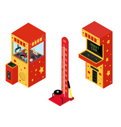 vending machine pullout toys arcade game machine vector image