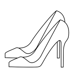woman black heel vector image