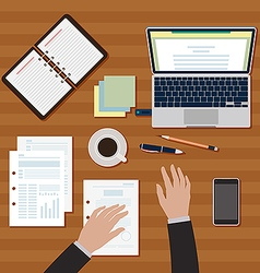 Workplace table image vector image