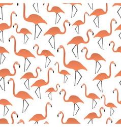 flamingos seamless pattern eps10 vector image vector image