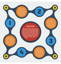 metaball flat infographic 10 vector image vector image