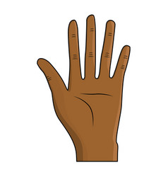 nice hand with all fingers and palm vector image