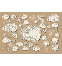 sky doodle vector image