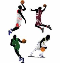 baseketball players vector image vector image