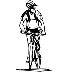 bicycle rider on abstract background vector image vector image