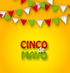 Cinco de mayo holiday bunting background vector