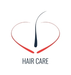 Hair care follicle icon vector image vector image