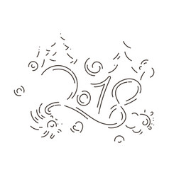 Lettering for happy new 2018 year vector