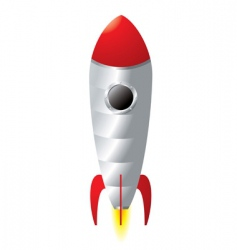 rocket cartoon vector image vector image