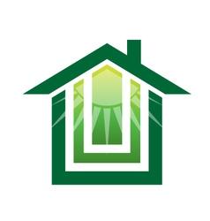 Solar Green house Logo vector image vector image