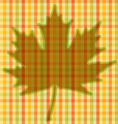 Squared Autumnal Card vector image vector image