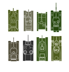 Tank collection vector image