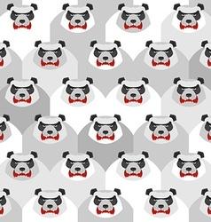 Angry Panda Seamless pattern of ferocious bears vector image vector image