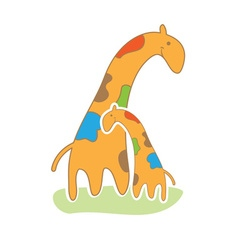 baby giraffe in cute style vector image vector image