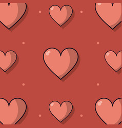 colorful background with pattern of hearts vector image vector image