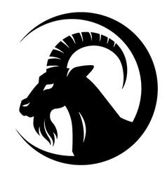 goat symbol vector image vector image