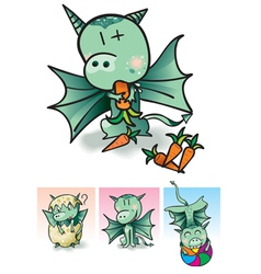 Little dragon vector image vector image
