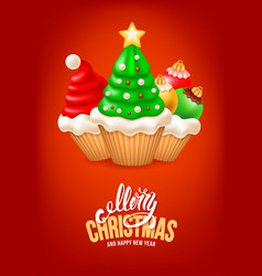sweet christmas and happy new year vector image vector image