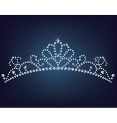 Tiara made a lot of diamonds vector image vector image