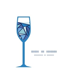 Abstract ice chrystals wine glass silhouette vector