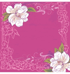Background with magnolia vector image