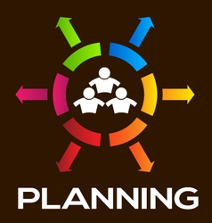 Planning Team People Infographic vector image vector image