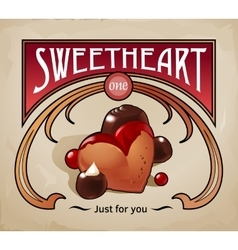 Sweet dessert of biscuit vector image