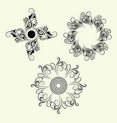 3 Element ornaments vector image
