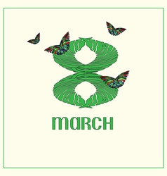 8 March2 vector image