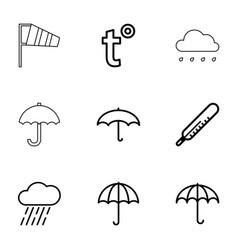 9 meteorology icons vector image