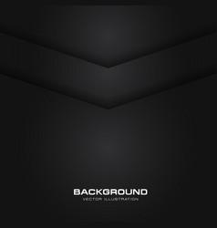 abstract arrow metallic black shiny color black vector image