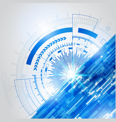 Abstract blue technology new future concept vector
