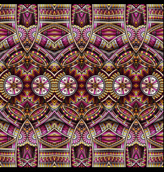 abstract ethnic rug ornamental seamless pattern vector image
