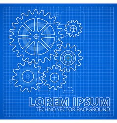 Abstract gear technology background vector