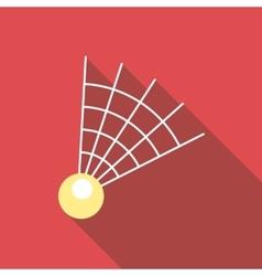 Badminton shuttlecock icon flat style vector image