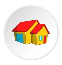 Big house with garage icon cartoon style vector image