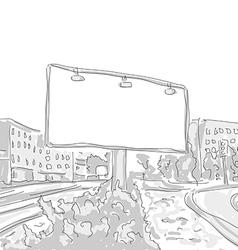 Billboard in the city draw graphic design vector