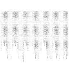 binary code zero one matrix white background vector image