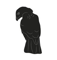 Bird in flight silhouette vector