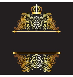 Black baground with royal frame vector image vector image