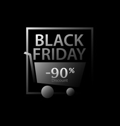 black friday 90 percent discount promotional vector image