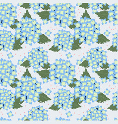 blue hydrangea seamless pattern sweet flower vector image