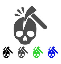 break skull icon vector image
