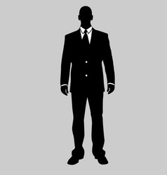 business man black and white 20 vector image