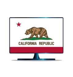 California flag tv vector