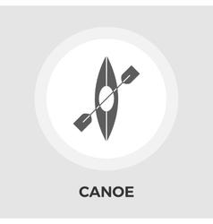 Canoe Flat Icon vector image