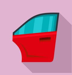 Car door icon flat style vector