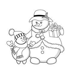Christmas Snowmen vector image