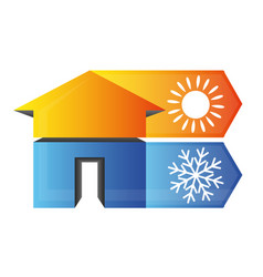 Climate in house symbol vector